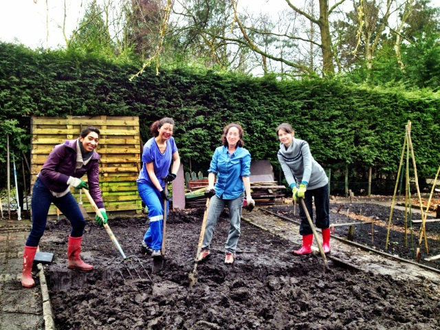April 2013: Finally gardening in T-shirts! (Photo: Jennifer Lenhart)