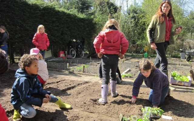 May 2013: Planting the Childrens' Bed (Photo: Yvon Stefess)